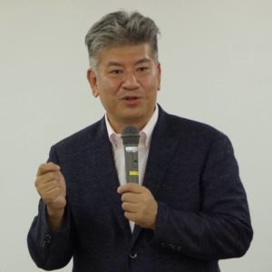 山下 和弥氏 (元葛城市長、株式会社新時代クリエーション研究機構 代表)